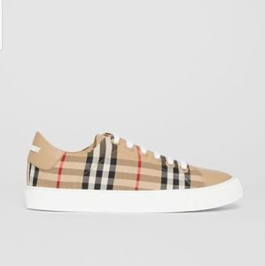 Burberry Vintage Check and Leather Sneaker